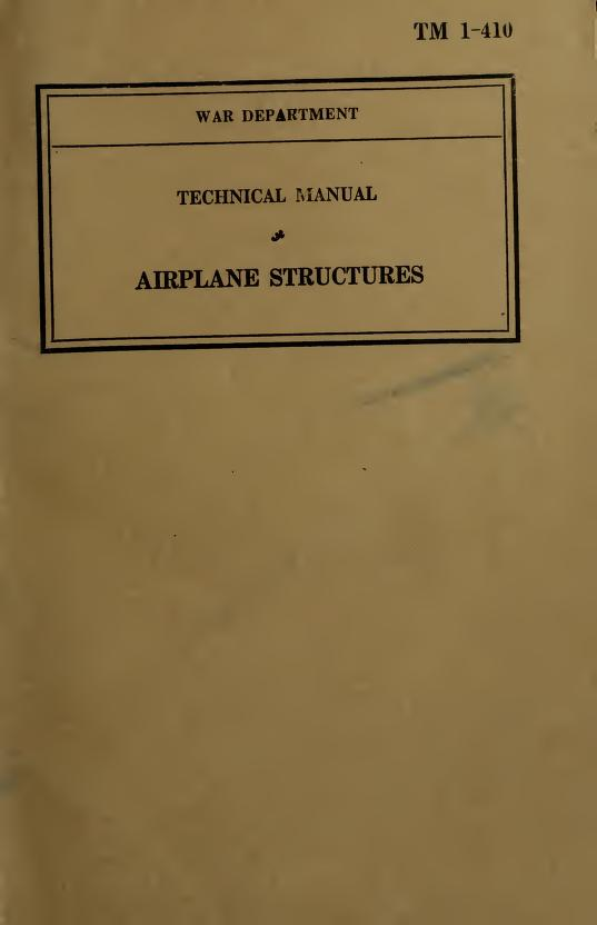United States. War Department - TM 1-410 Airplane Structures
