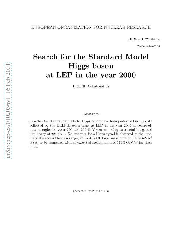 The DELPHI Collaboration - Search for the Standard Model Higgs boson at LEP in the year 2000