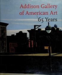 Cover of: Addison Gallery of American Art | Addison Gallery of American Art