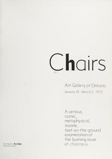 Chairs by Art Gallery of Ontario.