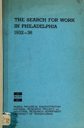 Cover of: Ten years of work experience of Philadelphia weavers and loom fixers | Gladys L. Palmer